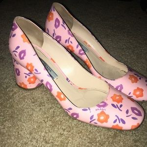 Prada kitten chunk heels